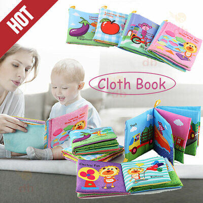 Cloth Fabric Cognize Books Intelligence Development Educational For Kid Baby Toy