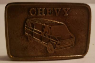 Vintage Chevy Van Belt Buckle Nice Shape See Pictures