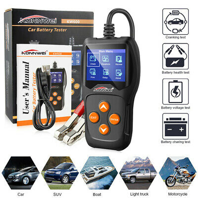 KONNWEI KW600 Car Battery Tester 12V Digital Color Screen Auto Battery Analyzer