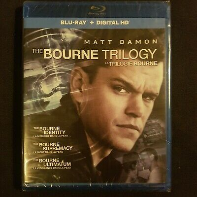 The Bourne Trilogy - Blu ray (New & Sealed) English + French Bluray