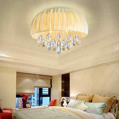 Crystal Water Drop Lamp Ceiling Pendant Light Lantern Shades Chandelier Fixtures