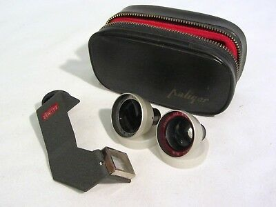 Kaligar Kalimar Aux Telephoto & Wide Angle Lens Set for Kodak Instamatic w/ Case
