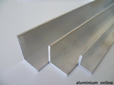 ALUMINIUM UNEQUAL METRIC ANGLE 15mm 20mm 30mm 40mm