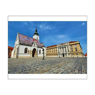 "12133559 10""x8"" (25x20cm) Print St. Marks Church and Croatian Par..."