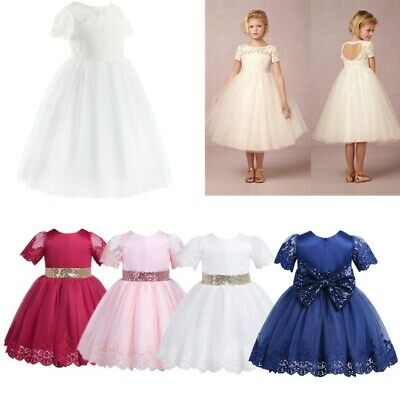 Flower Girls Dress Princess Pageant Wedding Bridesmaid Birthday Party Kids Gown