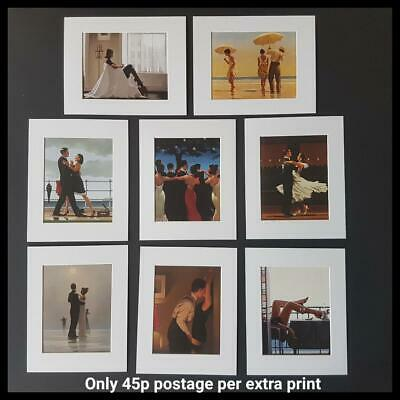 "Jack Vettriano Mounted Art Prints 10"" x 8"" Choose From 60 Designs WHITE MOUNT"