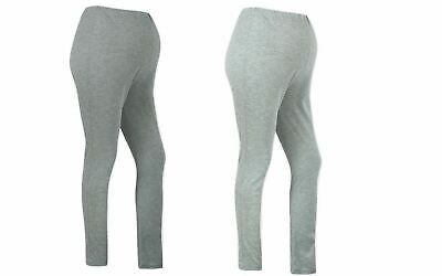 Maternity Stretch Cotton Leggings - Light & Dark Grey - Sizes UK8/10/12/14/16/18