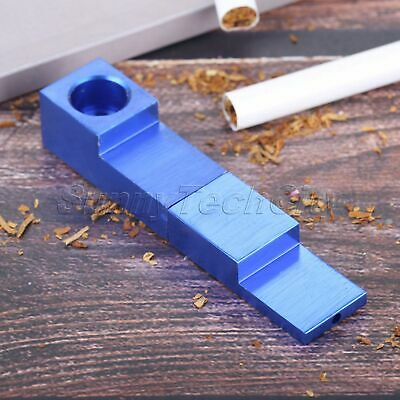 1Pc Portable Tobacco Herb Pipe Aluminum Alloy Magnetic Folding Smoking Pipe Blue