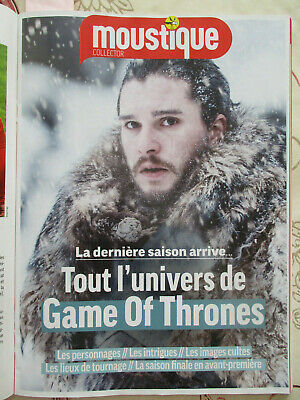REVUE belge MOUSTIQUE - GAME OF THRONES 32 PAGES - QUEEN - CHARLEBOIS - DEL RE -