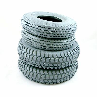 Set of 4 Grey Pneumatic Tyres for Sapphire 2 (2 x 3.00-4)( 2 x 2.80/2.50-4)