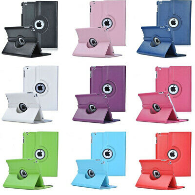 NEW Leather 360 Rotating Smart Stand Case Cover For Apple iPad Air1/2 Mini 2/3/4