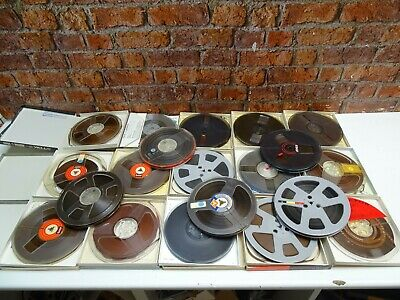20 x Used Mixed Make 7in 1/4in Wide Reel To Reel Tape Recorder Take Up Reels