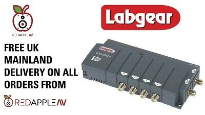 Labgear LDA204LR 4-Way 2 In 4 Out TV & Radio Distribution Amplifier