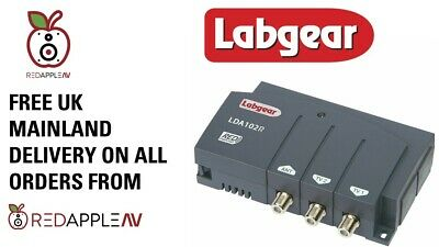 Labgear LDA201R 2-Way 1 In 2 Out TV & Radio Distribution Amplifier