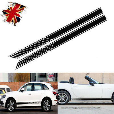 Car Bonnet Racing  Viper Stripes Decals Sticker Graphic For VW Ford Audi BMW