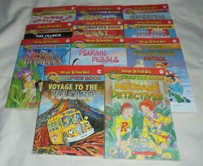 HUGE set of 11 The Magic School Bus series chapter books