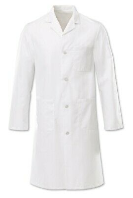 Alexandra Men's Doctor Health PPE Factory Safety Button Lab Jacket Coat - W21