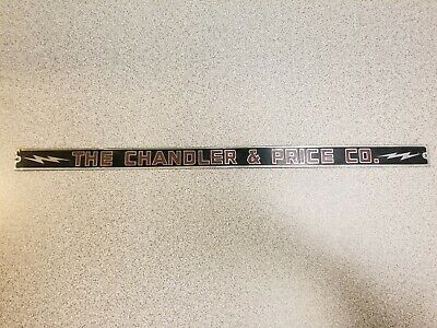 ANTIQUE 1920'S CHANDLER & Price Co-Cleveland, Ohio Cast Iron