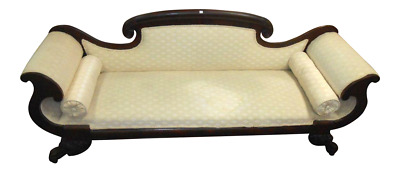 Antique Mahogany Federal Style Settee