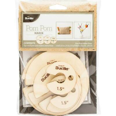 Bucilla Pom Pom maker 6pc wood set - 49111 - BEST Value in Europe
