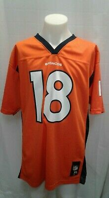 7c459d226e5 NFL Team Apparel Youth boys XL Orange Jersey Denver Broncos Peyton Manning # 18