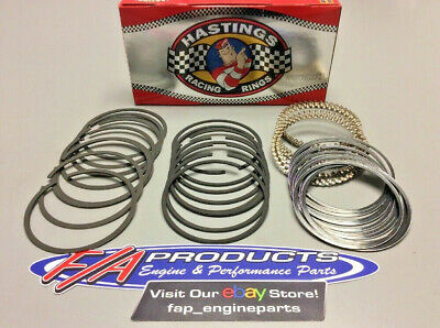 4.040 1//16 1//16 3//16 Small Block Chevy 40 Over Drop In Piston Ring Set Moly SBC