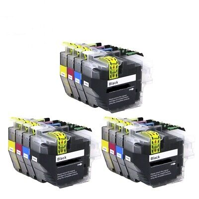 12 x Ink Cartridges (3 Sets) Non-OEM Alternative For Brother - LC3233 - B,C,M