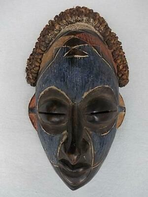 26 / Hand Carved Wooden African Tribal Mask With Applied Pigments