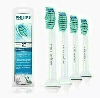 4x Philips Sonicare HX6014 ProResults Replacement  Toothbrush Heads Genuine