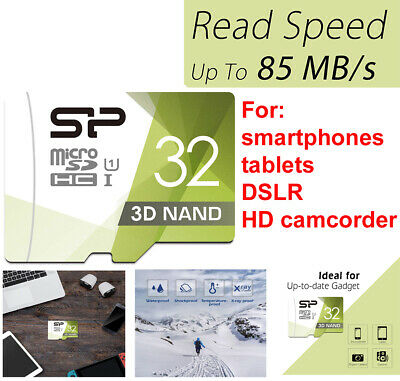 SP 32GB Micro sd Card SDHC MicroSD Memory for Samsung LG HTC Google Android