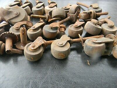 Mixed Lot  Vintage Antique Dresser Wood Wooden Wheels Casters