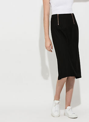 8064cc1a9 Kit and Ace Lululemon Pencil Me In Skirt Dual Zip & Pleat Stretch Black 6  Mint