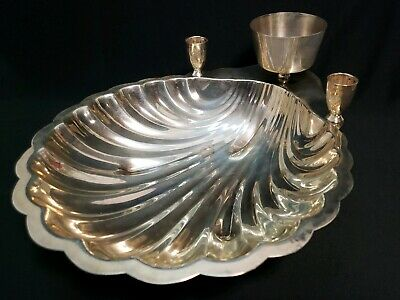 FB Rogers Silverplate Shrimp Cocktail Shell Bowl # 1728