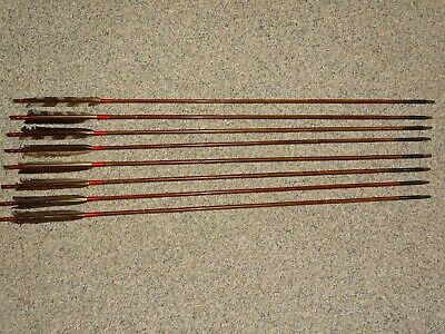 Old Japanese Samurai Arrow Lot of 8, 19th C. w/ Iron Points YA YANONE YUMI SWORD