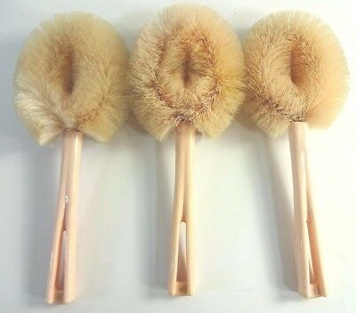 Vtg Lot of (3) Lady Catherine Pink Complexion Brush Stanley Home Products
