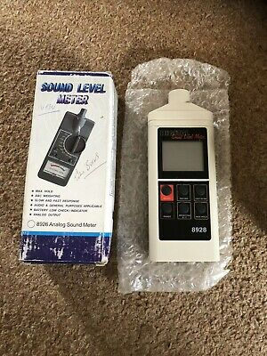 Digital Sound Level Meter Model 8928 With Instruction Manual - Boxed