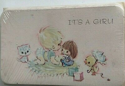 Lot Of 2 Sealed Vintage Baby Girl Birth Announcements Hallmark (18 total)