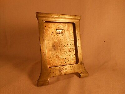 Vintage Art Deco Antique Brass Picture Photo Frame Desk Table Shelf Frame