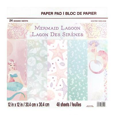 Craft Smith Design-Papierblock 30,4 x 30,4cm (48 Blatt) - Mermaid Lagoon