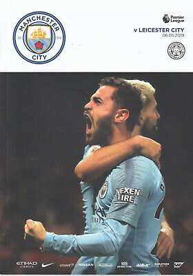 Manchester City v Leicester City Programme 2018-2019