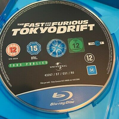 The Fast And The Furious Tokyo Drift (Blu-Ray) UK Import Region Free sin Estuche