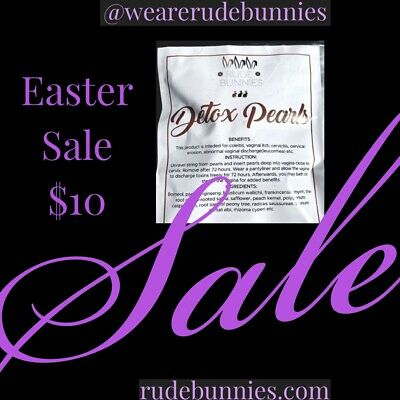 Rude Bunnies Easter Sale Yoni Detox Pearls