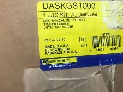 SQUARE D ALUMINUM LUG KIT DASKGS1000 New
