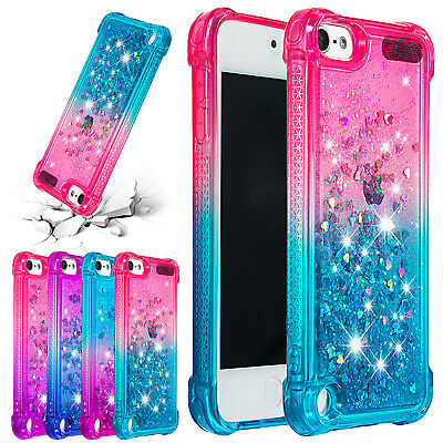 For iPod Touch 6th/5th Gen Case Bling Glitter Quicksand Soft Silicone Thin Cover