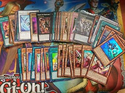 Yugioh card Collection 200 Card Lot with 15 Rares & 10 Holofoil Rare. M/NM