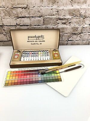 Permanent Pigments Artists Oil Colors Painting Set No. 38 Kit Vintage