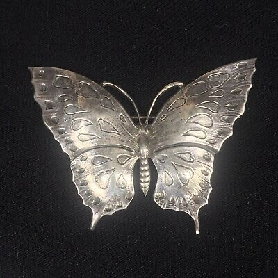 Vintage Cini Sterling Silver Large Butterfly 🦋 Brooch Pin