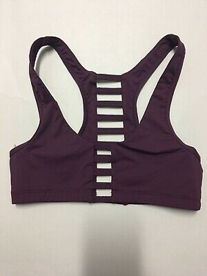 86358cd1d1f Victorias Secret PINK Ultimate Strappy Cage Back Sport Bra Purple S P