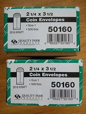 1.5 boxes (~750) Quality Park 2.25 x 3.5 inch coin envelopes (50160)