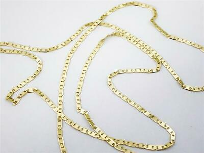 058f4afcffc72 MENS/LADIES 1/10TH 10K Yellow Gold 3 MM Hollow Rope Chain Necklace ...